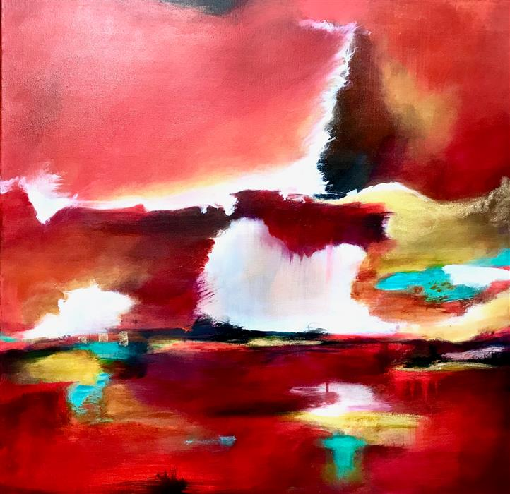 Original art for sale at UGallery.com | Sailor's Delight 11 by DL WATSON | $2,150 |  | 30' h x 30' w | ..\art\acrylic-painting-Sailor-s-Delight-11