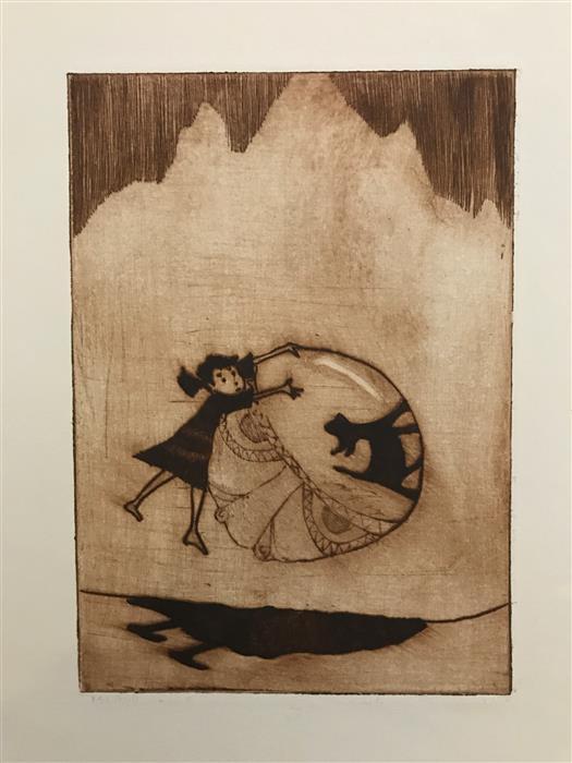 Original art for sale at UGallery.com | Got Ya! by Doug Lawler | $325 | printmaking | 10' h x 8' w | ..\art\printmaking-Got-Ya