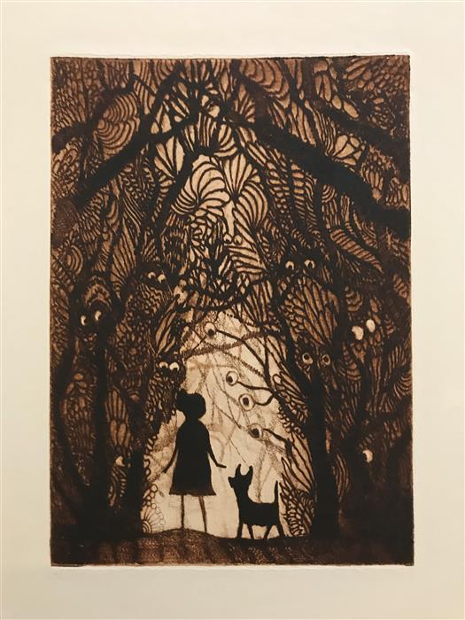Original art for sale at UGallery.com | Eyes by Doug Lawler | $325 | printmaking | 10' h x 8' w | ..\art\printmaking-Eyes