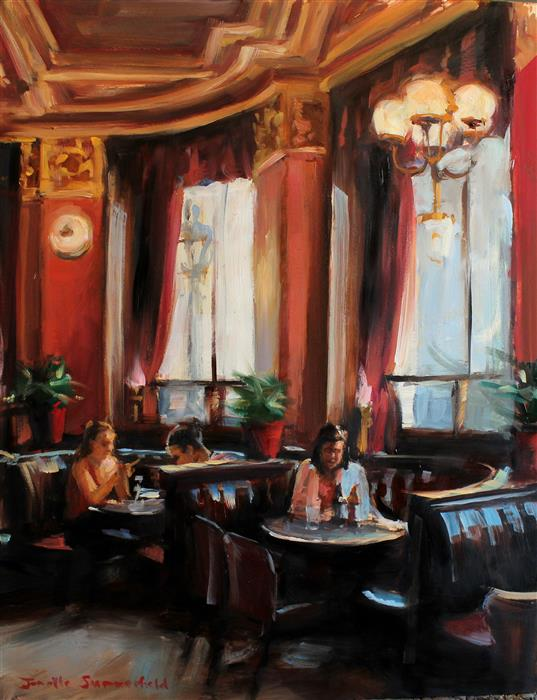 Original art for sale at UGallery.com | Cafe Royal by JONELLE SUMMERFIELD | $700 |  | 14' h x 11' w | ..\art\oil-painting-Cafe-Royal