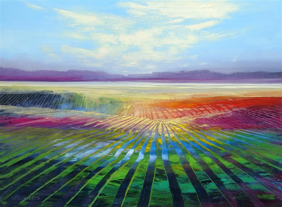 Original art for sale at UGallery.com | Distance View by George Peebles | $2,275 | oil painting | 36' h x 48' w | ..\art\oil-painting-Distance-View