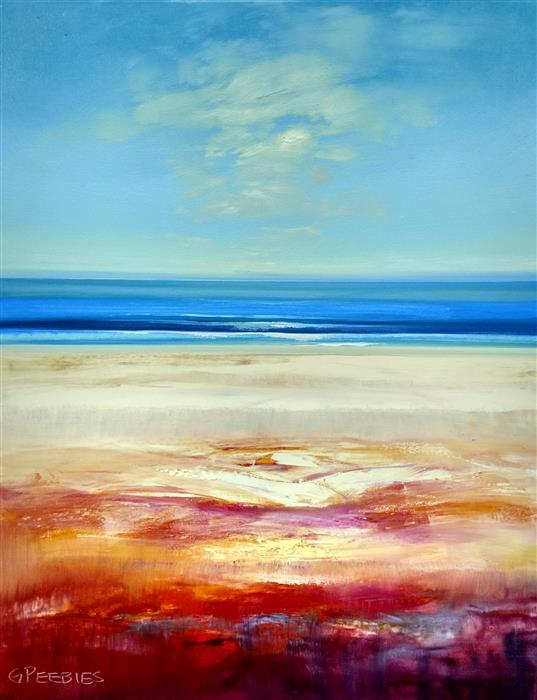 Original art for sale at UGallery.com | Water and Beach by GEORGE PEEBLES | $1,000 |  | 30' h x 24' w | ..\art\oil-painting-Water-and-Beach