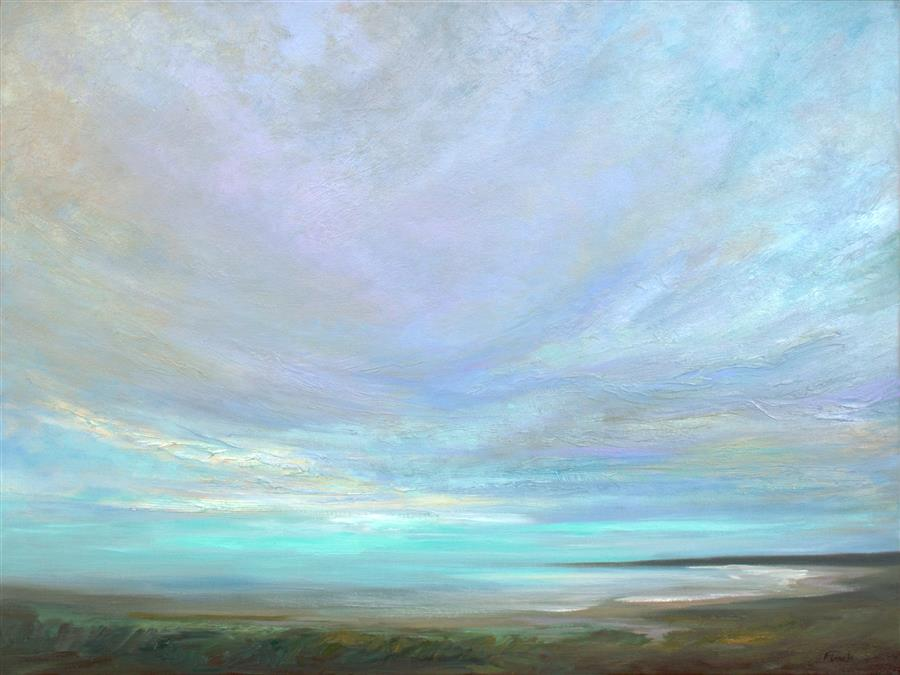 Original art for sale at UGallery.com | Coastal Clouds 33 by Sheila Finch | $4,575 | oil painting | 30' h x 40' w | ..\art\oil-painting-Coastal-Clouds-33