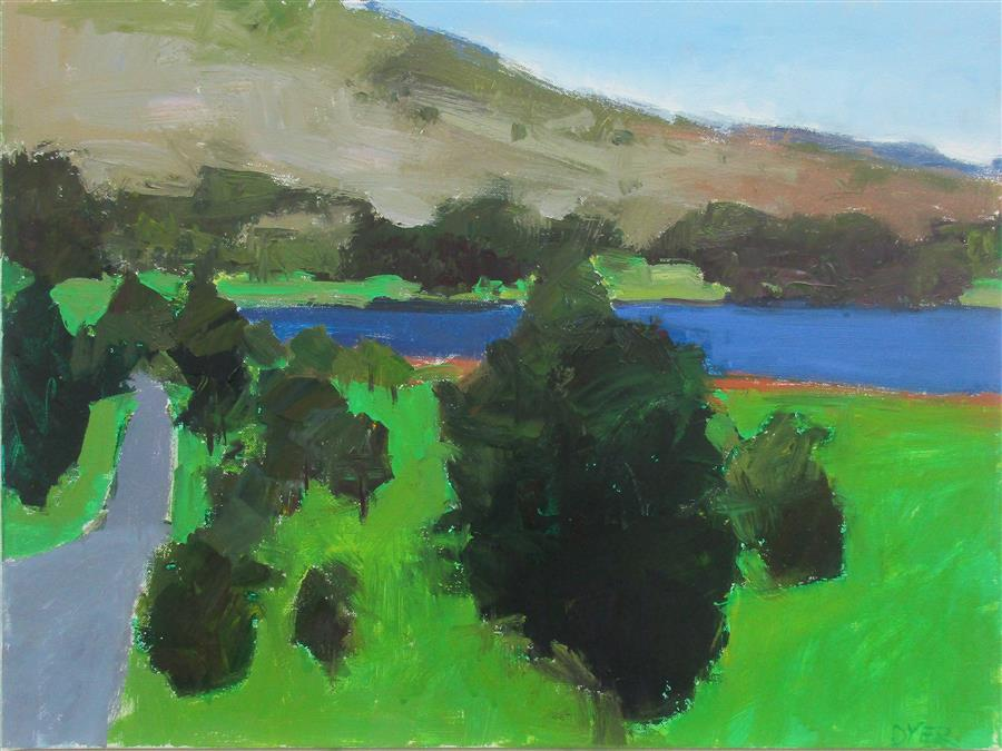 Original art for sale at UGallery.com | Ullswater by JANET DYER | $1,425 |  | 18' h x 24' w | ..\art\acrylic-painting-Ullswater