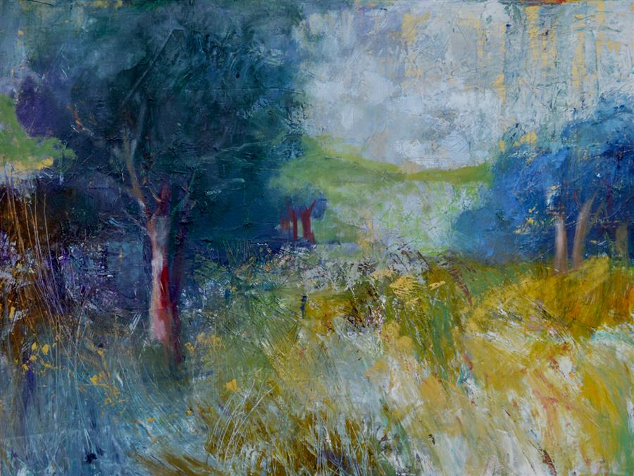 Original art for sale at UGallery.com | Landscape Memoirs 1 by JULIA  HACKER | $2,350 |  | 40' h x 30' w | ..\art\oil-painting-Landscape-Memoirs-1