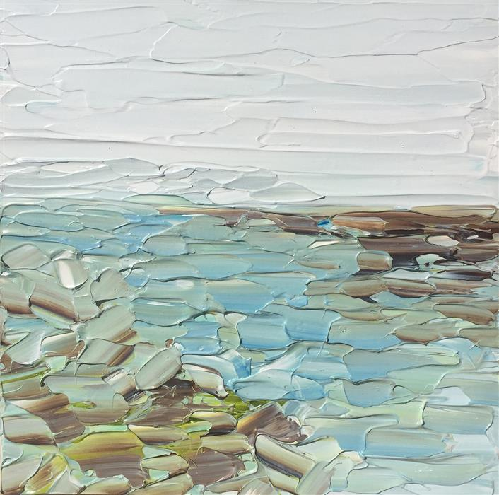 Original art for sale at UGallery.com | Inlet Passage by RUTH LAGUE | $325 |  | 8' h x 8' w | ..\art\acrylic-painting-Inlet-Passage