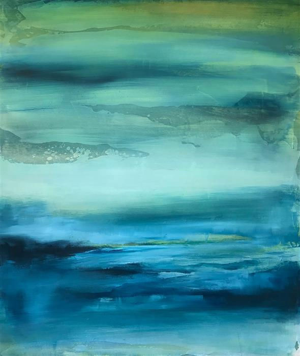 Original art for sale at UGallery.com | Ocean Blues by DREW NOEL MARIN | $850 |  | 24' h x 20' w | ..\art\acrylic-painting-Ocean-Blues