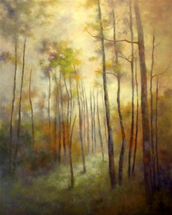 Original art for sale at UGallery.com | The Rhythm of Daybreak by GAIL GREENE | $1,125 |  | 30' h x 24' w | ..\art\oil-painting-The-Rhythm-of-Daybreak