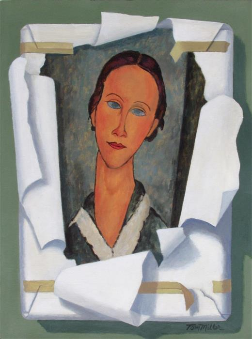 Original art for sale at UGallery.com | Modigliani Discovered by TOM MILLER | $375 |  | 16' h x 12' w | ..\art\acrylic-painting-Modigliani-Discovered