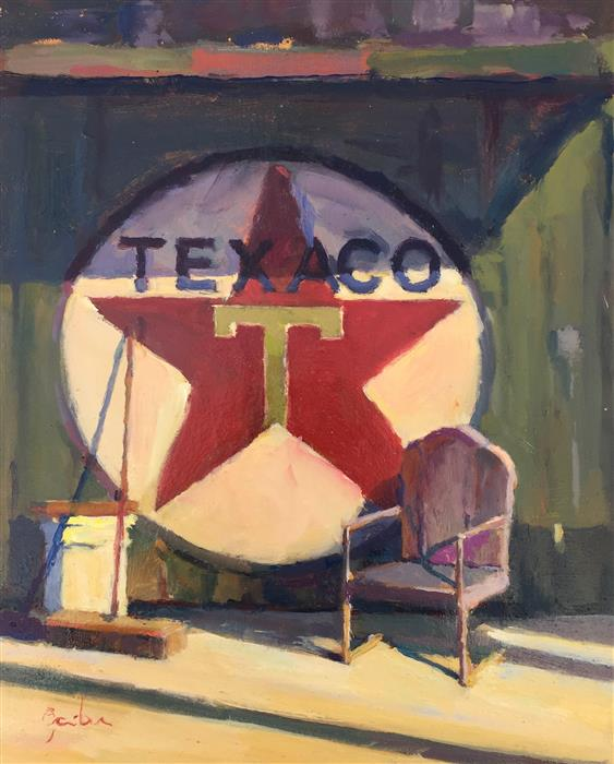 Original art for sale at UGallery.com | Texaco Still Life by George Scribner | $525 | oil painting | 11' h x 9' w | ..\art\oil-painting-Texaco-Still-Life