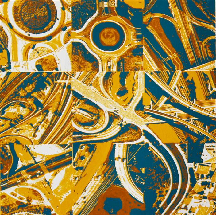 Original art for sale at UGallery.com | Freeway Variations by TONI SILBER-DELERIVE | $200 |  | 12' h x 12' w | ..\art\printmaking-Freeway-Variations
