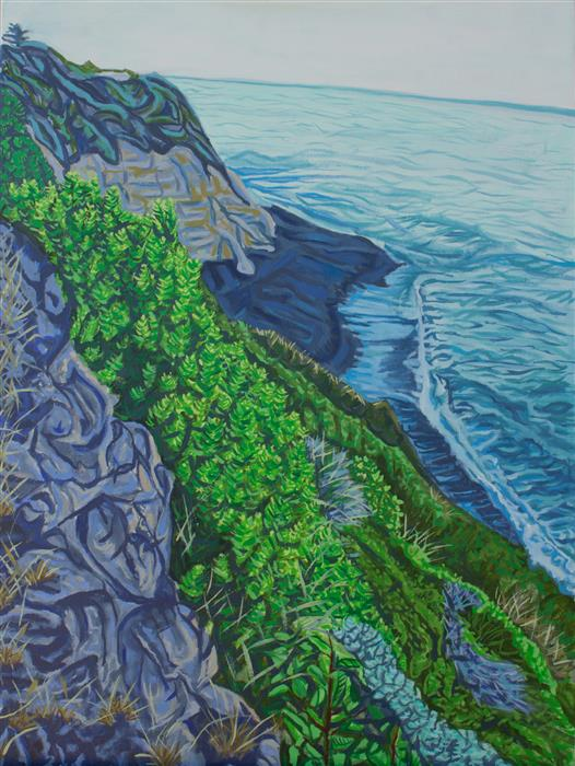 Original art for sale at UGallery.com | The Coast by Crystal DiPietro | $1,300 | oil painting | 24' h x 18' w | ..\art\oil-painting-The-Coast
