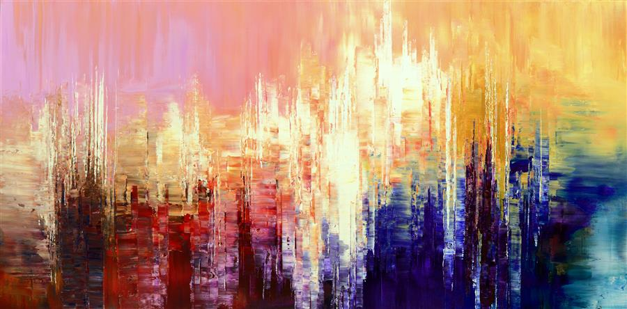 Original art for sale at UGallery.com | Sensuous Cognition by TATIANA ILIINA | $2,475 |  | 24' h x 48' w | ..\art\acrylic-painting-Sensuous-Cognition
