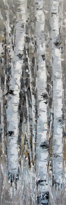 Original art for sale at UGallery.com | Up Close by TRICIA MAY | $1,425 |  | 36' h x 12' w | ..\art\oil-painting-Up-Close