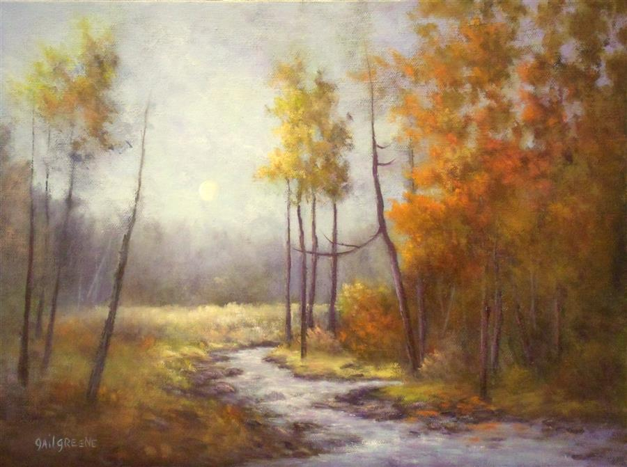 Original art for sale at UGallery.com | Autumn Palette by GAIL GREENE | $400 |  | 12' h x 16' w | ..\art\oil-painting-Autumn-Palette-56094