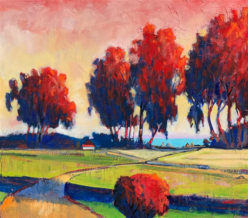 Original art for sale at UGallery.com | Point Richmond by James Hartman | $6,575 | oil painting | 48' h x 55' w | ..\art\oil-painting-Point-Richmond