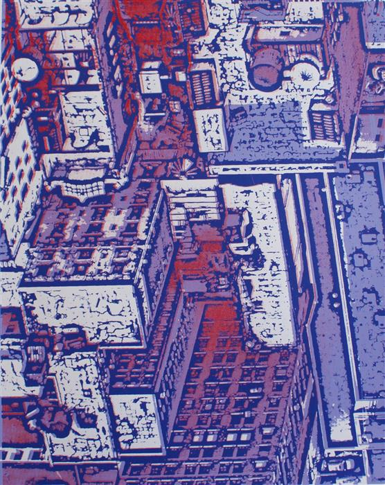 Original art for sale at UGallery.com | NYC Buildings by TONI SILBER-DELERIVE | $200 |  | 13' h x 10.5' w | ..\art\printmaking-NYC-Buildings