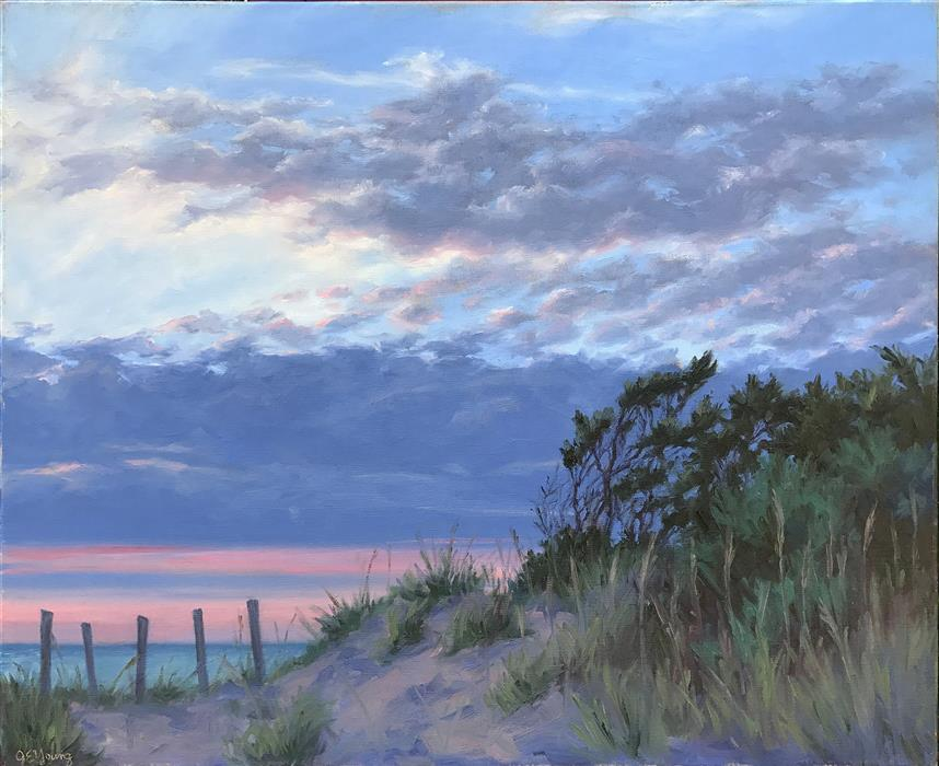 Original art for sale at UGallery.com | Twilight on the Outer Banks by JENNIFER YOUNG | $2,325 |  | 24' h x 30' w | ..\art\oil-painting-Twilight-on-the-Outer-Banks