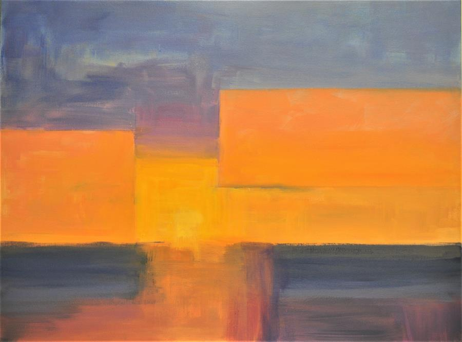 Original art for sale at UGallery.com | Golden Sunset by ROBERT PENNOR | $1,775 |  | 30' h x 4' w | ..\art\acrylic-painting-Golden-Sunset