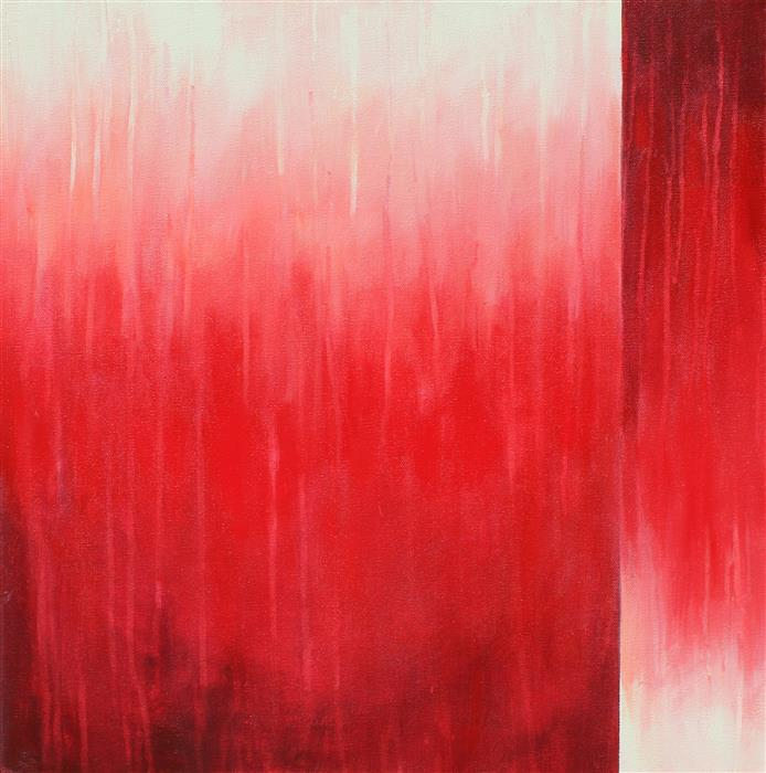 Original art for sale at UGallery.com | Diving In Ruby Madness by Marie-Eve Champagne | $500 | acrylic painting | 20' h x 20' w | ..\art\acrylic-painting-Diving-In-Ruby-Madness