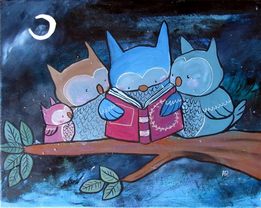 Original art for sale at UGallery.com | Story Time by ANDREA DOSS | $250 |  | 11' h x 14' w | ..\art\acrylic-painting-Story-Time-56427