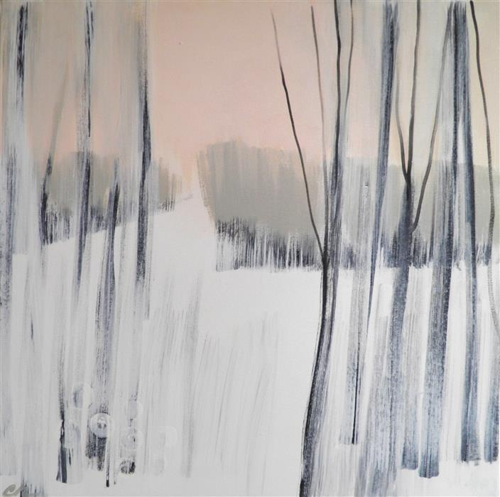 Original art for sale at UGallery.com | Winter Woods 2 by CATHE HENDRICK | $1,000 |  | 24' h x 24' w | ..\art\acrylic-painting-Winter-Woods-2