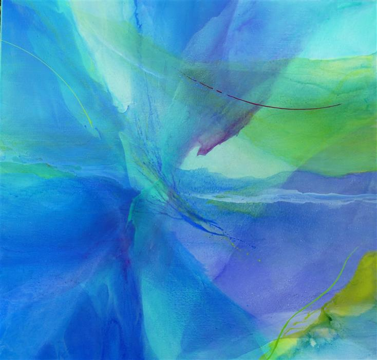 Original art for sale at UGallery.com | Sea Dreams by DOROTHY DUNN | $3,525 |  | 52' h x 54' w | ..\art\acrylic-painting-Sea-Dreams