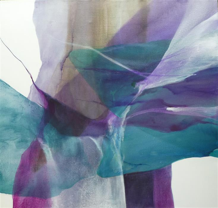 Original art for sale at UGallery.com | Heather Smoke by Dorothy Dunn | $2,075 | acrylic painting | 42' h x 44.25' w | ..\art\acrylic-painting-Heather-Smoke