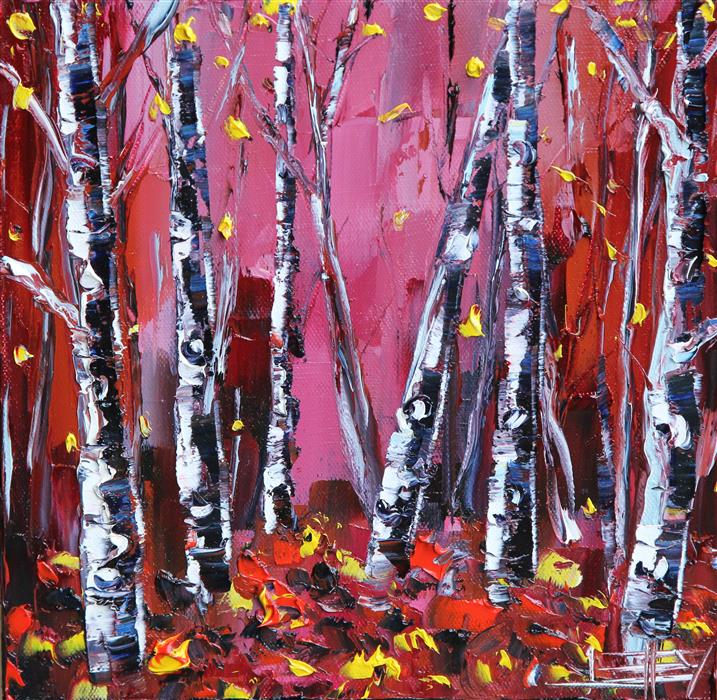 Original art for sale at UGallery.com | Surreal Birch by LISA ELLEY | $300 |  | 10' h x 10' w | ..\art\oil-painting-Surreal-Birch