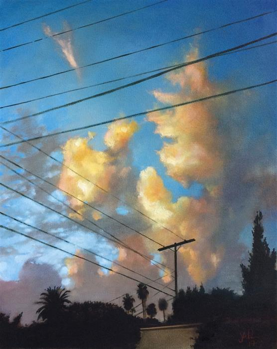 Original art for sale at UGallery.com | Highwire by JESSE ALDANA | $700 |  | 20' h x 16' w | ..\art\oil-painting-Highwire