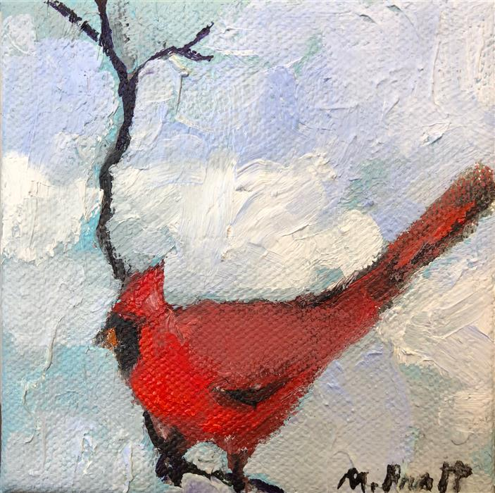 Original art for sale at UGallery.com | Big Red by MARY PRATT | $75 |  | 4' h x 4' w | ..\art\oil-painting-Big-Red-56572
