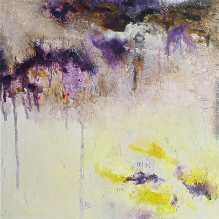 Original art for sale at UGallery.com | Inner Silence by Juan Gabriel Peréz Botero aka JUGA | $800 | mixed media artwork | 23.62' h x 23.62' w | ..\art\mixed-media-artwork-Inner-Silence