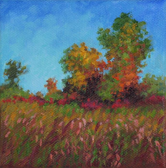 Original art for sale at UGallery.com | September On The Fen by SUZANNE MASSION | $75 |  | 4' h x 4' w | ..\art\oil-painting-September-On-The-Fen