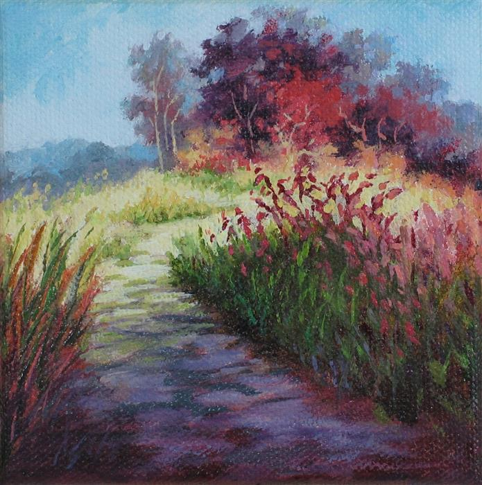 Original art for sale at UGallery.com | Sumac Pathway by SUZANNE MASSION | $75 |  | 4' h x 4' w | ..\art\oil-painting-Sumac-Pathway