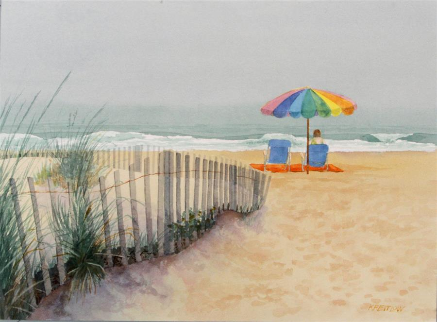 Original art for sale at UGallery.com | Wishing for the Sun by BILL KREITLOW | $750 |  | 18.25' h x 24.25' w | ..\art\watercolor-painting-Wishing-for-the-Sun