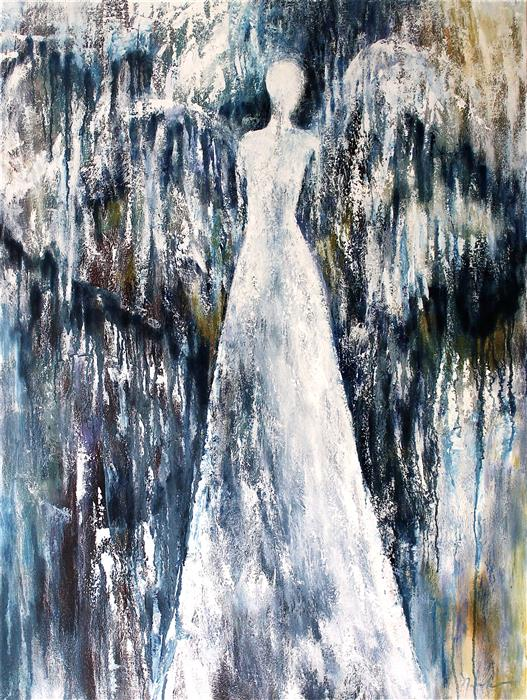 Original art for sale at UGallery.com | Who Are These Angels CIV by NAOKO PALUSZAK | $3,000 |  | 40' h x 30' w | ..\art\oil-painting-Who-Are-These-Angels-CIV
