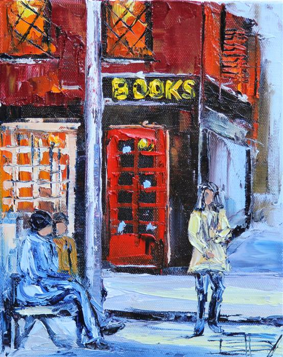 Original art for sale at UGallery.com | New York City by LISA ELLEY | $300 |  | 10' h x 8' w | ..\art\oil-painting-New-York-City