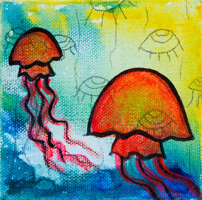 Original art for sale at UGallery.com | Jelly by MASHA VERESHCHENKO | $75 |  | 4' h x 4' w | ..\art\acrylic-painting-Jelly