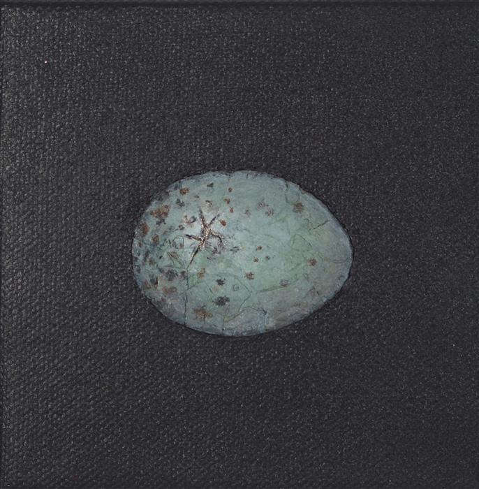 Original art for sale at UGallery.com | Kintsugi Egg, Speckled by JENNIFER ROSS | $75 |  | 4' h x 4' w | ..\art\mixed-media-artwork-Kintsugi-Egg-Speckled