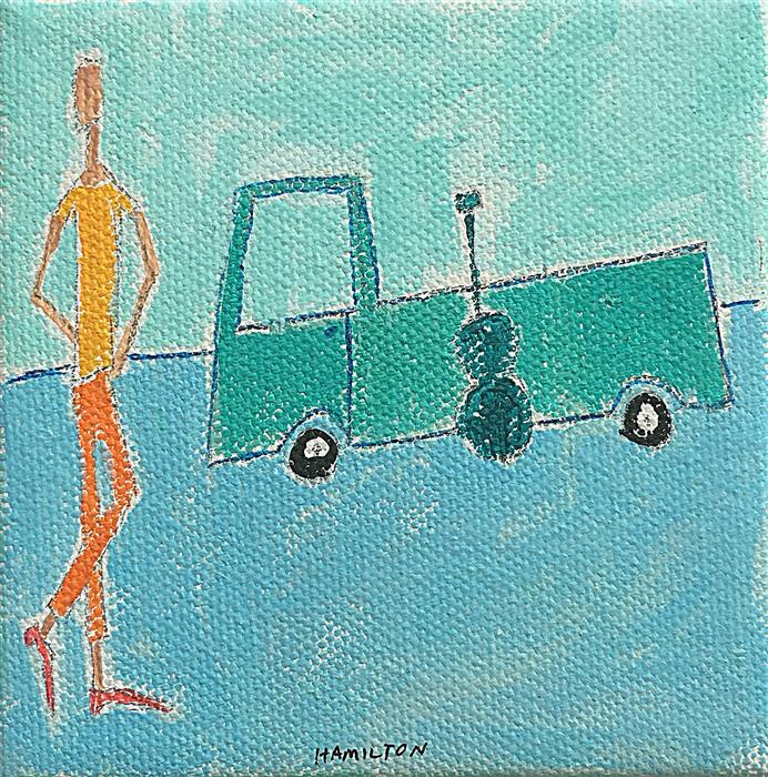 Original art for sale at UGallery.com | Road Trip by RICK HAMILTON | $75 |  | 4' h x 4' w | ..\art\acrylic-painting-Road-Trip