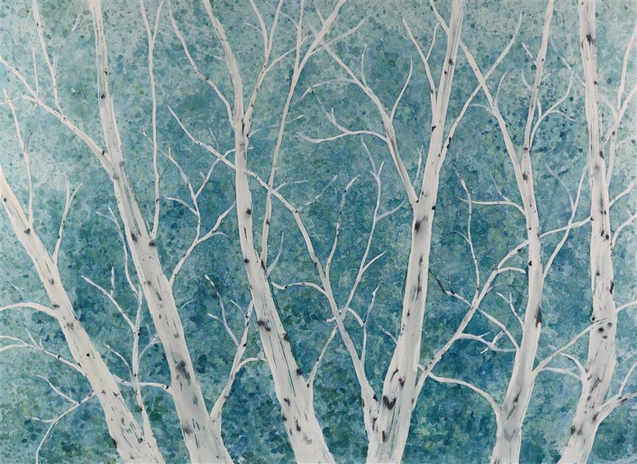 Original art for sale at UGallery.com | Frost by TAMARA GONDA | $1,875 |  | 20' h x 30' w | ..\art\watercolor-painting-Frost
