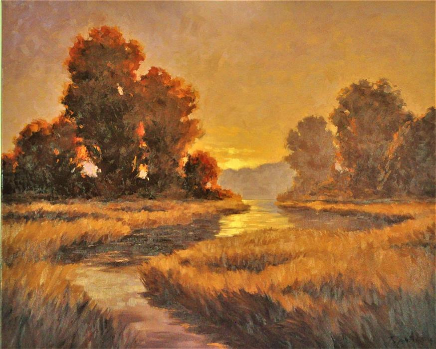 Original art for sale at UGallery.com |  Joyful Sunrise by Robert Pennor | $1,175 | oil painting | 24' h x 30' w | ..\art\oil-painting-Joyful-Sunrise