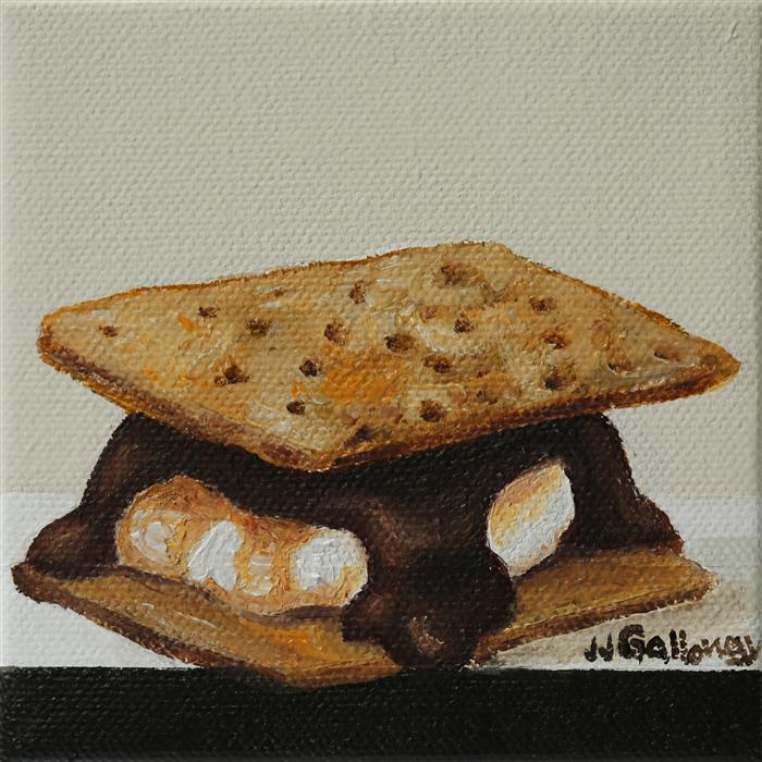 Original art for sale at UGallery.com | S'more by JJ GALLOWAY | $75 |  | 4' h x 4' w | ..\art\oil-painting-S-more
