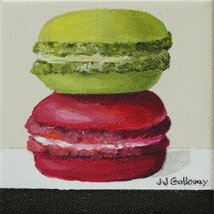 Original art for sale at UGallery.com | Macaroon by JJ GALLOWAY | $75 |  | 4' h x 4' w | ..\art\oil-painting-Macaroon