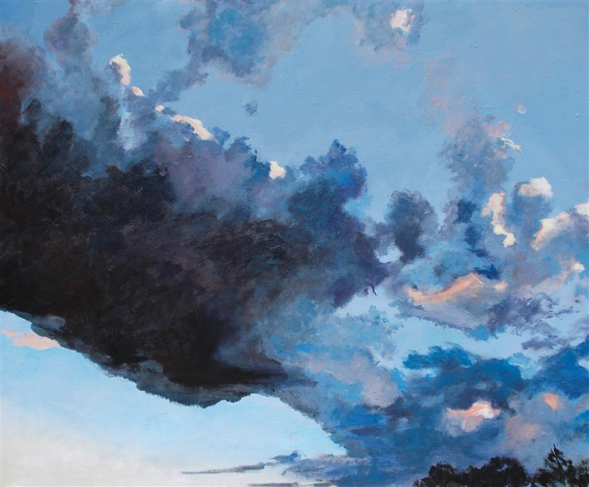 Original art for sale at UGallery.com | Sky Battle by Benjamin  Thomas | $2,900 | acrylic painting | 40' h x 48' w | ..\art\acrylic-painting-Sky-Battle