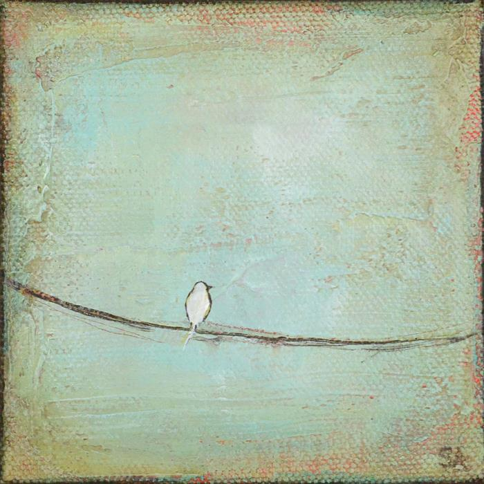Original art for sale at UGallery.com | One Dove by SALLY ADAMS | $75 |  | 4' h x 4' w | ..\art\acrylic-painting-One-Dove