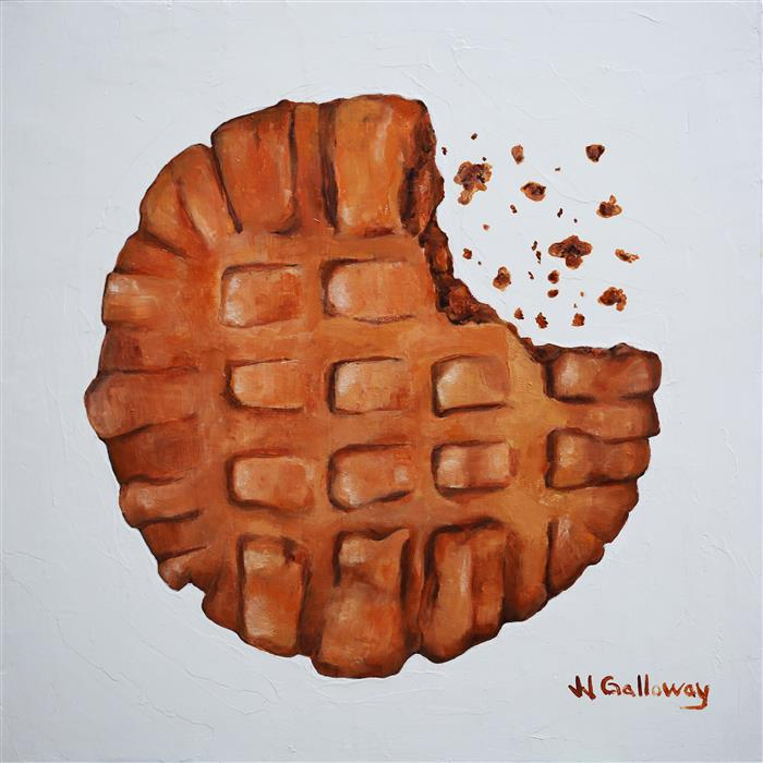 Original art for sale at UGallery.com | Peanut Butter Cookie by JJ Galloway | $575 | oil painting | 12' h x 12' w | ..\art\oil-painting-Peanut-Butter-Cookie