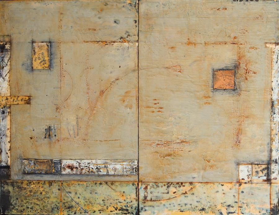 Original art for sale at UGallery.com | Pentimento by SUSAN CRETAROLO | $2,700 |  | 26' h x 33.75' w | ..\art\encaustic-artwork-Pentimento