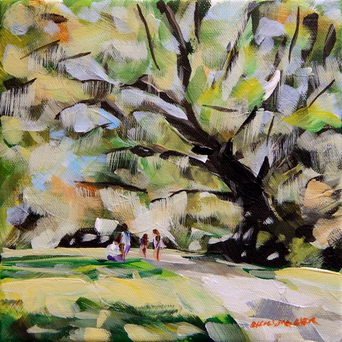 Original art for sale at UGallery.com | Live Oak by CHRIS WAGNER | $200 |  | 8' h x 8' w | ..\art\acrylic-painting-Live-Oak-57166
