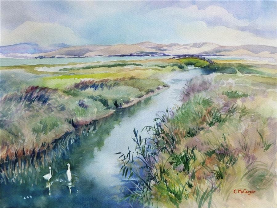 Original art for sale at UGallery.com | Tranquil by Catherine McCargar | $650 | watercolor painting | 12' h x 16' w | ..\art\watercolor-painting-Tranquil